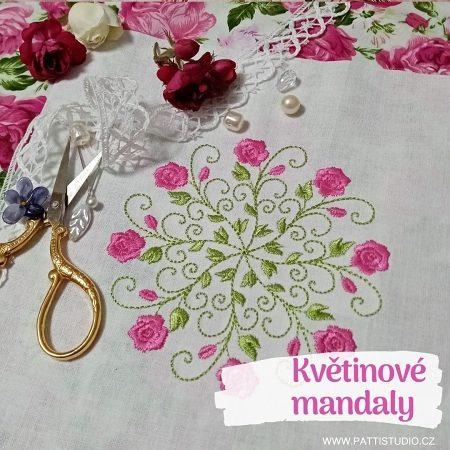 Vyšívání – Květinové mandaly